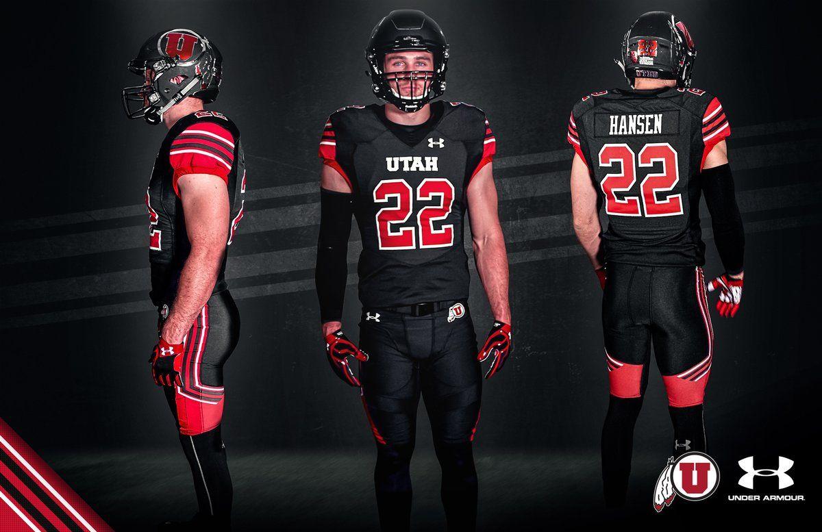 University of Utah Utes 2017 allblack football uniforms