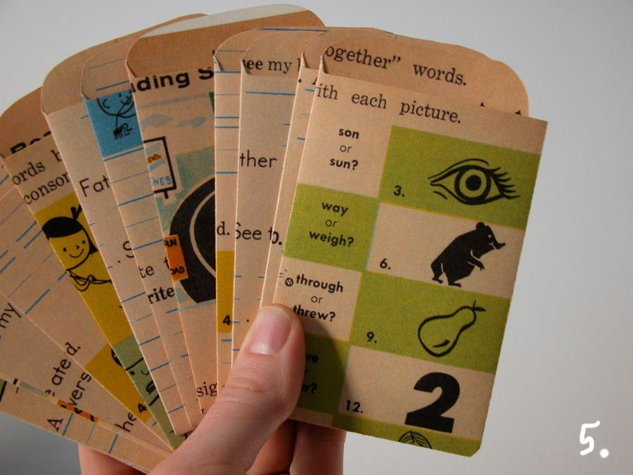 downloadable PDF template to make library pockets - love these - library card template