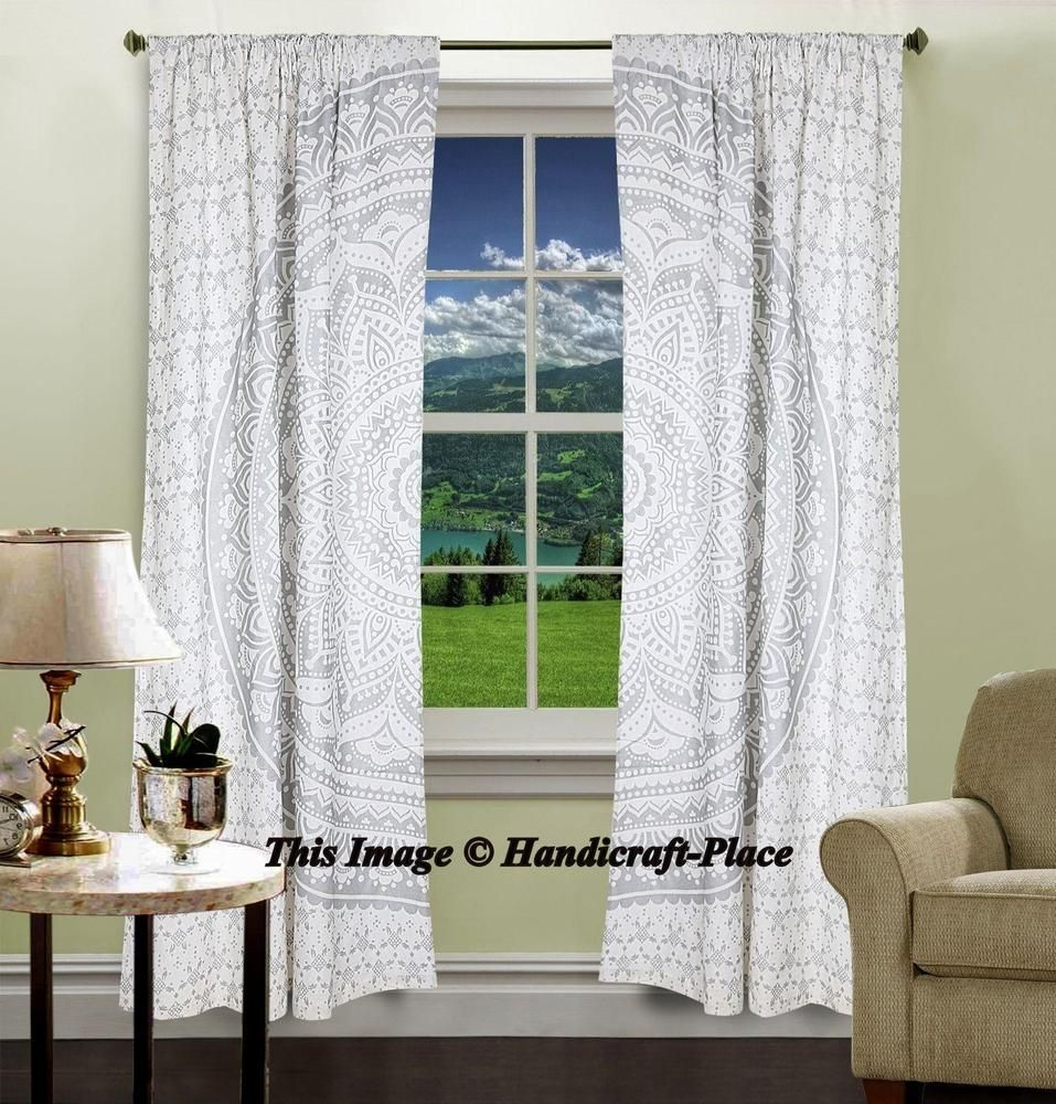 Details About Indian Mandala Curtains Window Wall Drapes