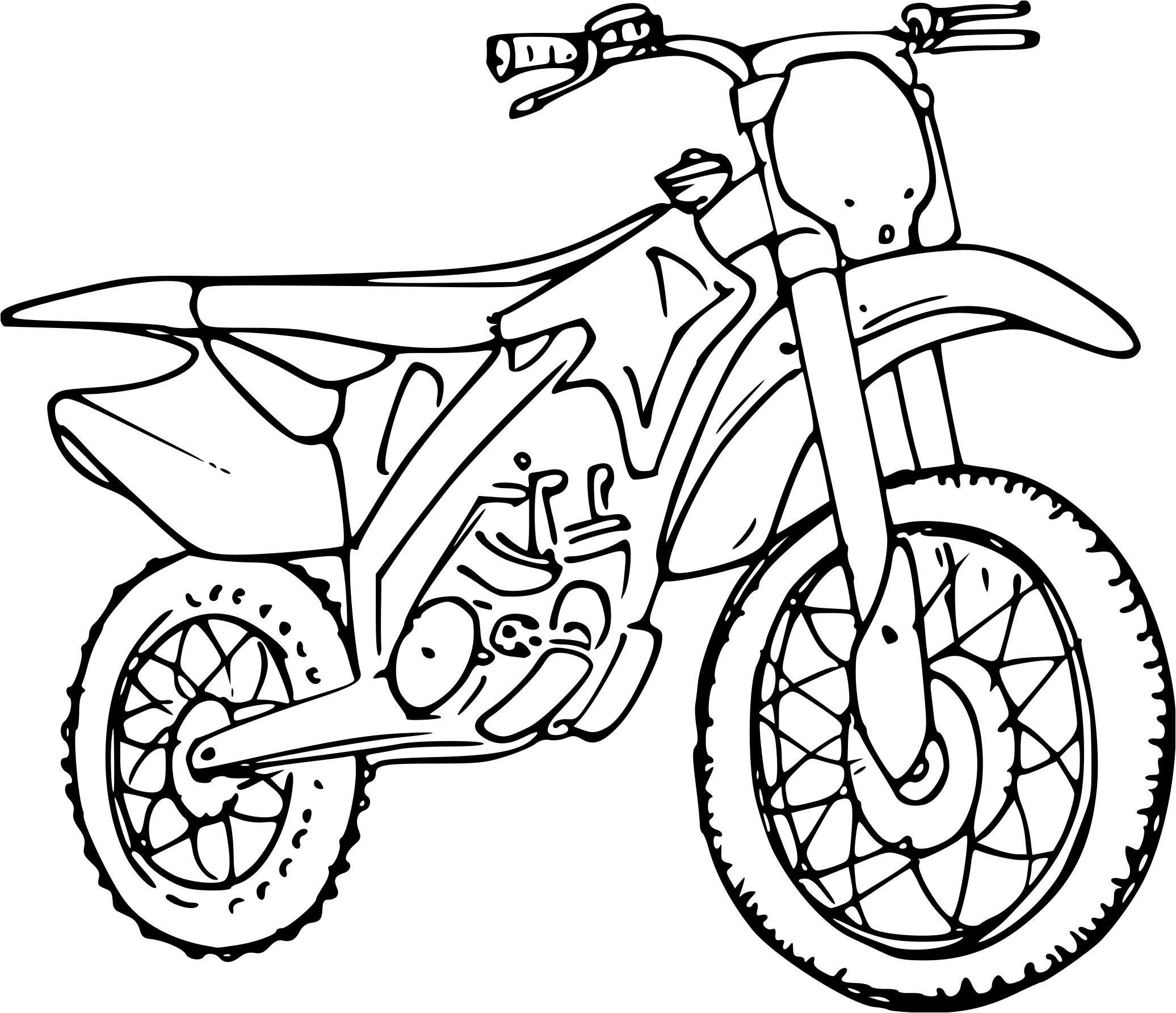 dessin à imprimer: Dessin De Moto Ktm A Imprimer