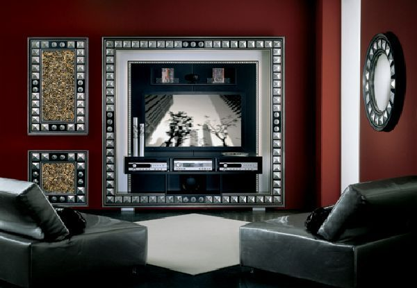 How to Decorate Tv on The Wall Ideas in Living Room: Beautiful Living Room With Lcd Tv And Wall Decor ~ homedigg.com Decorating Inspiration