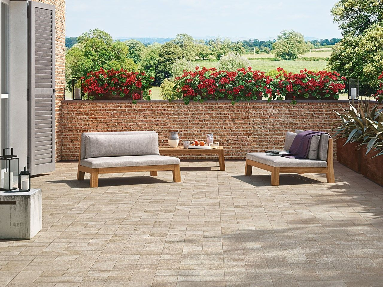 Piastrelle Per Esterno Beige Gres effetto pietra per esterni amazing pavimento per esterni in