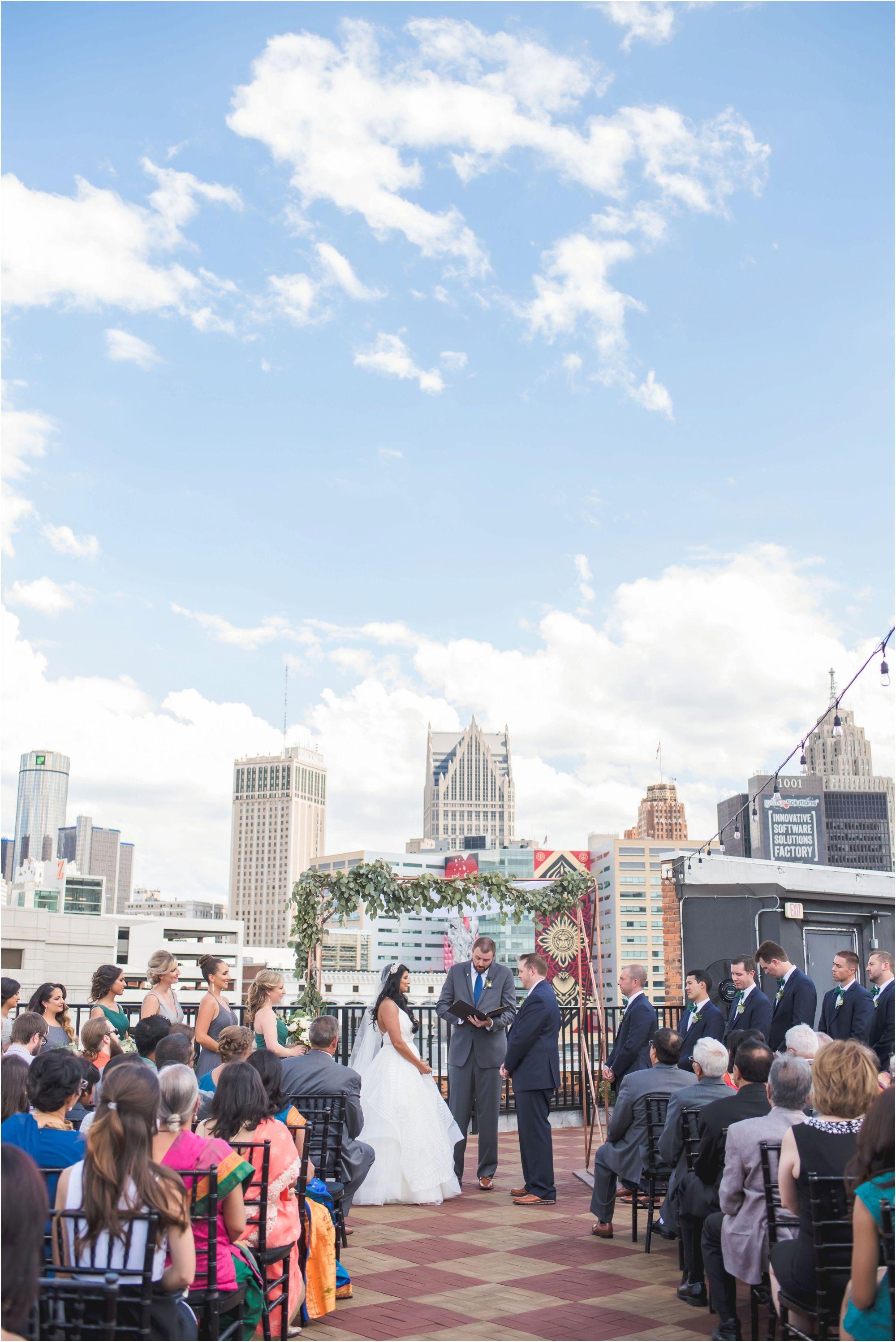 E Schmidt Photography Detroit Opera House Sky Deck Wedding