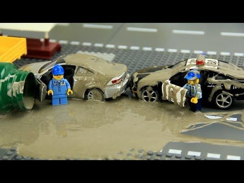 Police vs Thief Cars in the mud Video for Kids - YouTube