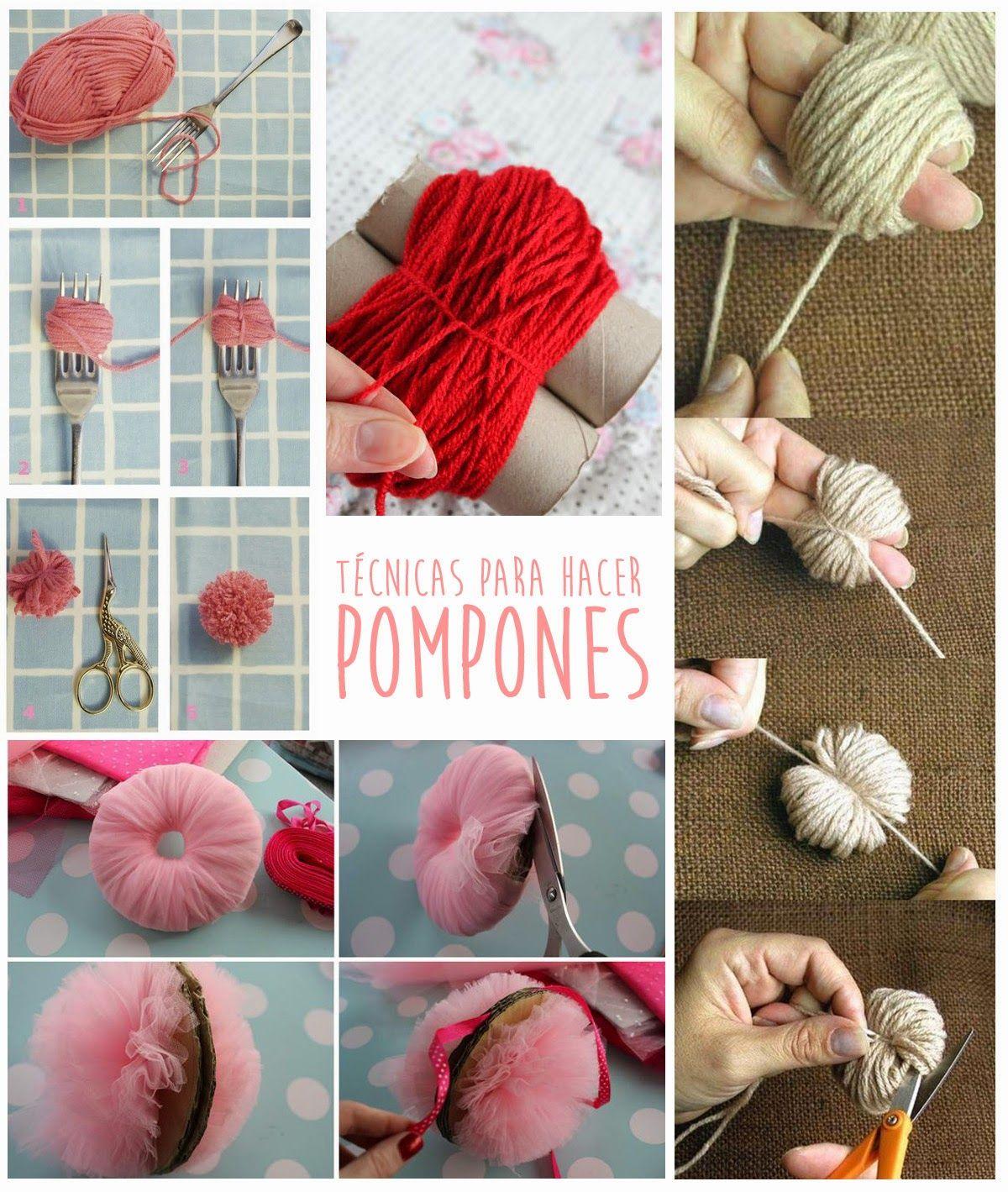 Como Hacer Munecos Con Pompones De Lana Pompones De Lana Pompones Ponpones De Lana