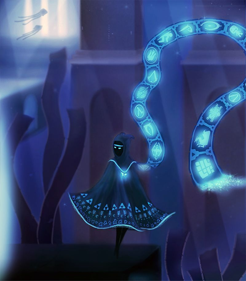 Feannora made this #JourneyPS3 Original Character, with logos/symbols from a bunch of other games.  Pretty cool, isn't it?