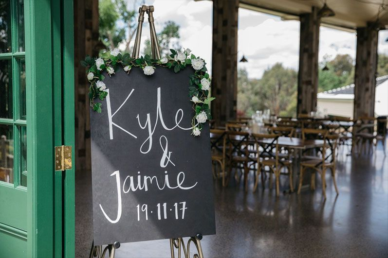 Black board wedding sign - welcome wedding sign #weddingsign