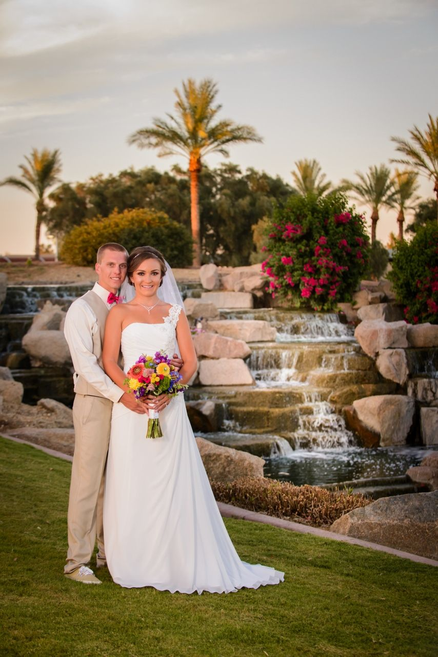 A By One Of Our Waterfalls At Ocotillo Golf Resort