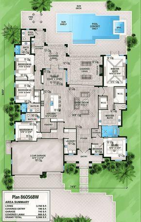 Plan 86056BW: Upscale Florida House Plan