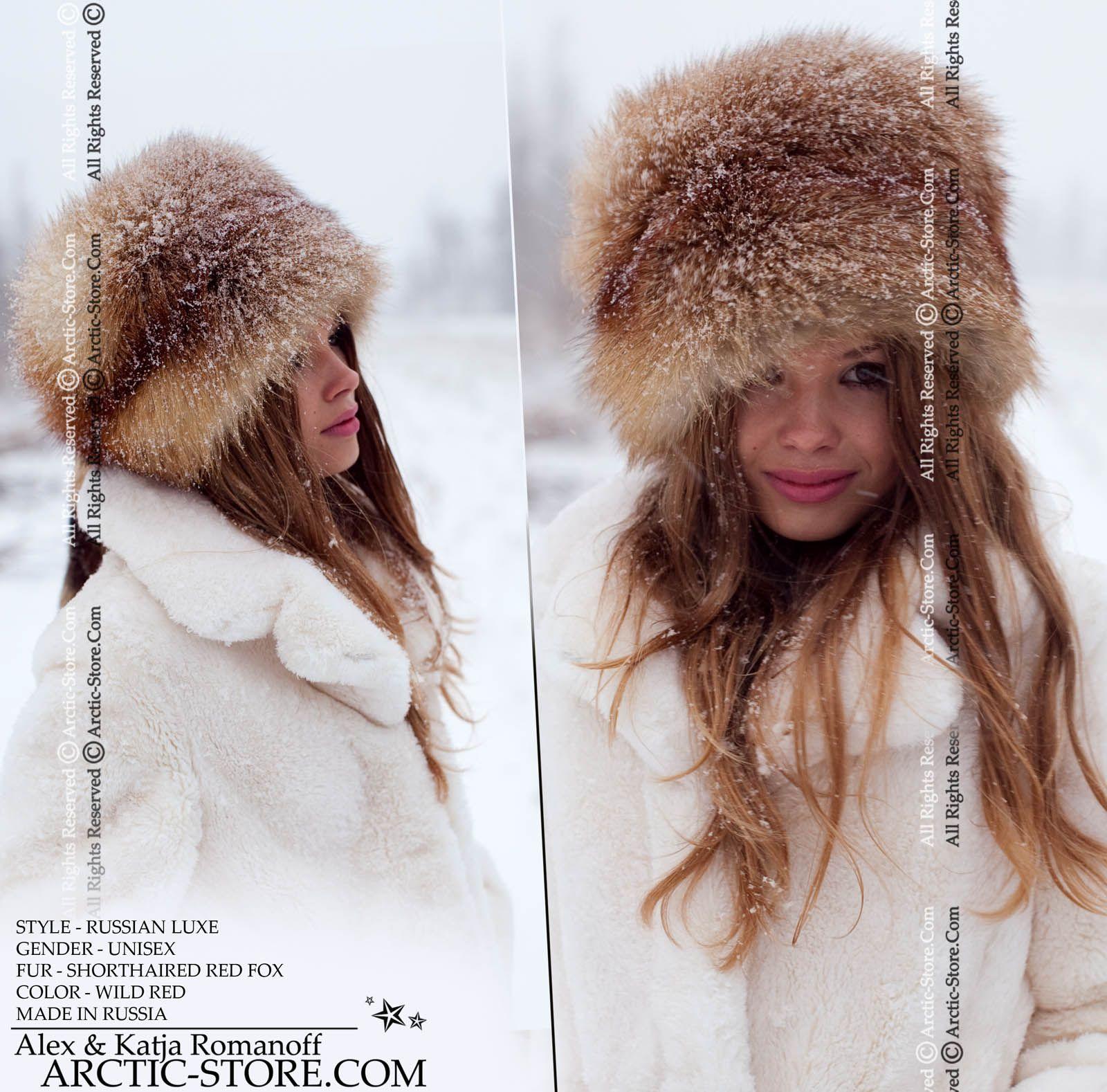 Boyaryn Luxe Russian Red Fox Russian Style Hat Hat Fashion Fur Hat