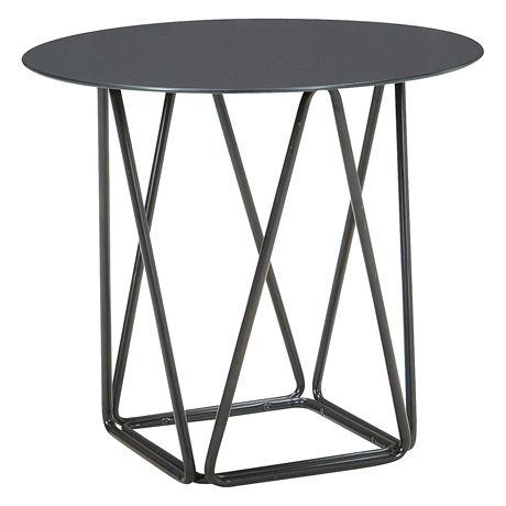 Living Room Satellite Side Table 50cm Diameter Black 99