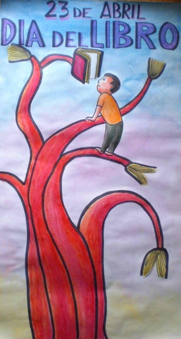 23 De Abril Dia Del Idioma Y Del Libro Dia Del Idioma Murales Escolares Dia Del Idioma Español
