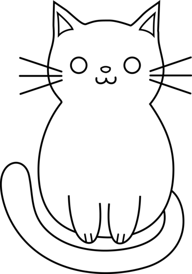 Cute Cat Line Art Free Clip Art Black Cat Drawing Kitten Drawing Cat Outline
