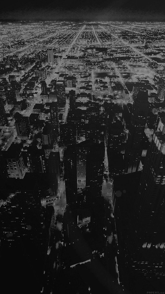 Chicago Night Lights Mobile Wallpaper Id 15106