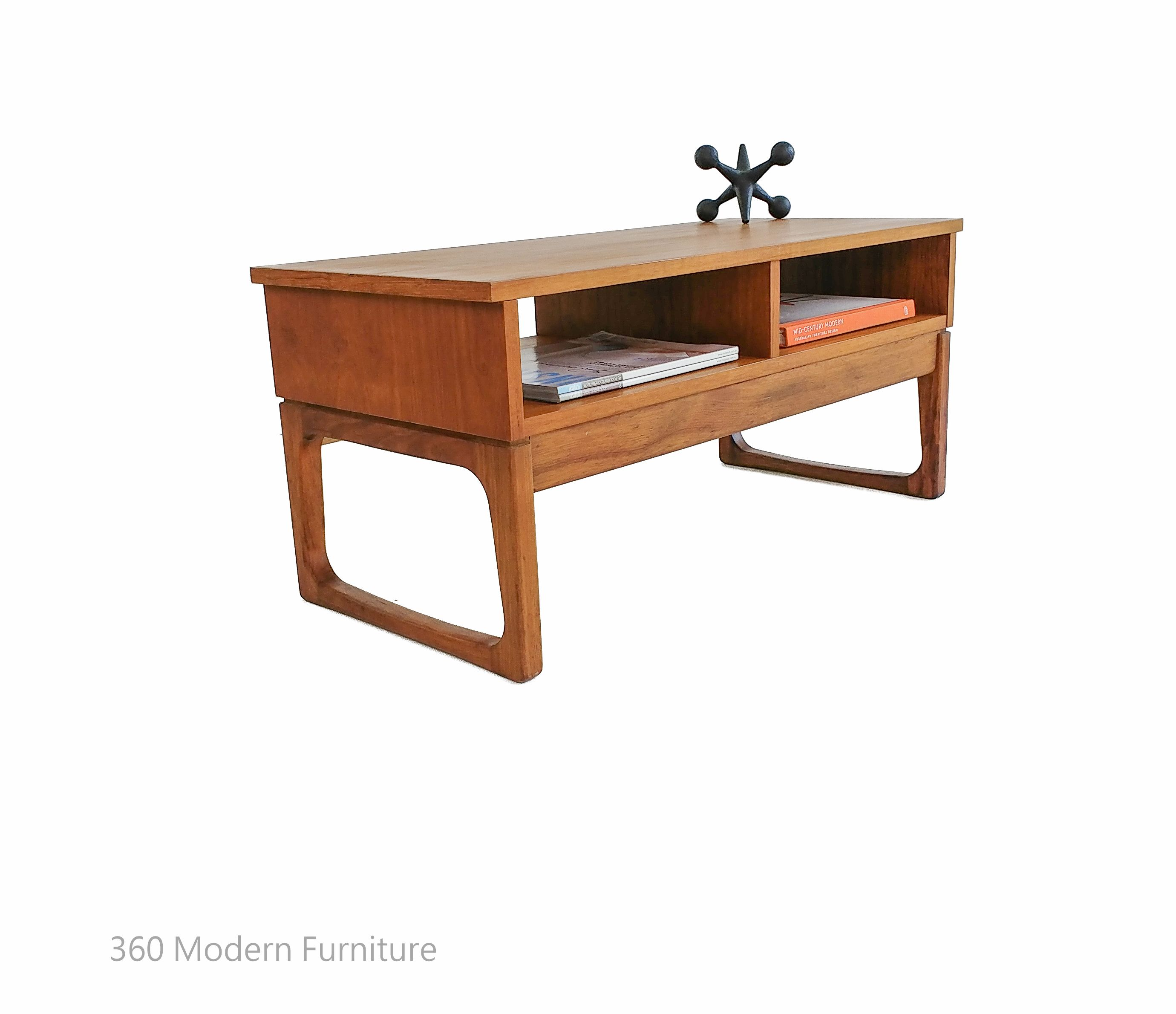 Affordable Retro Furniture: Mid Century Easden Coffee Table Teak Magazine Rack Retro