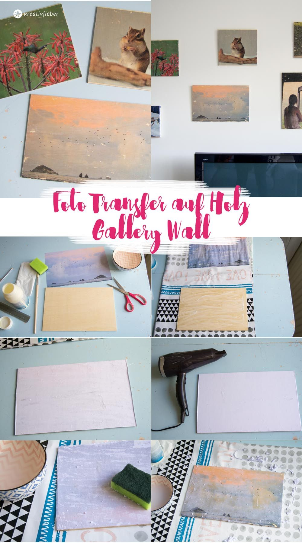 Fotodruck Auf Holz Diy Fototransfer Auf Holz Gallery Wall Diy Ideas Photo Transfer To