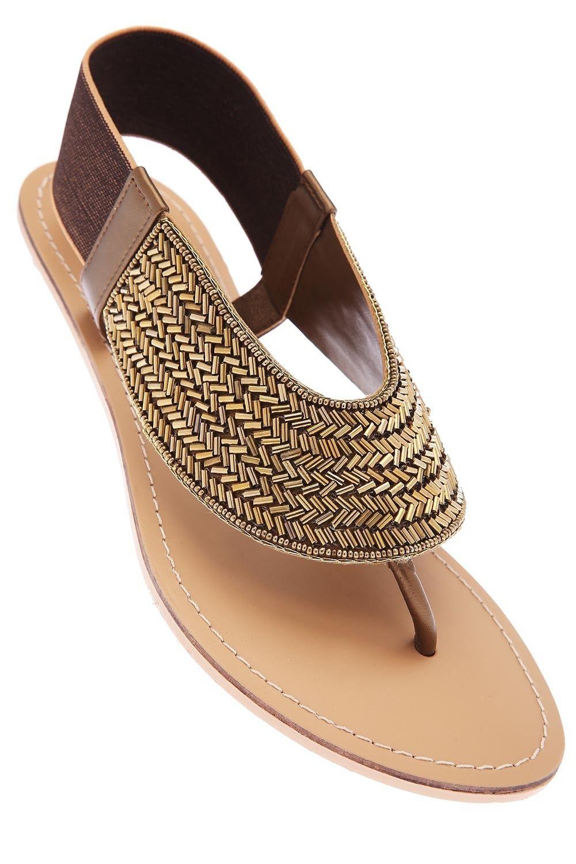 CATWALK - Womens Bronze Elastic Backend Flat Sandal, S For SHOES, Women |  Shoppers
