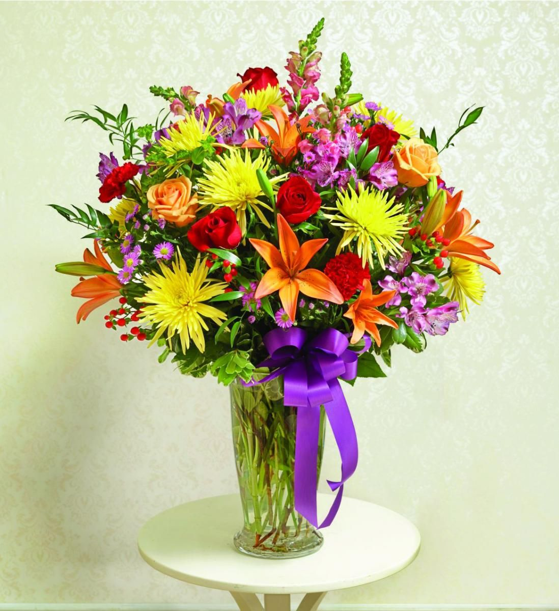 Colorful Flowers In Vases