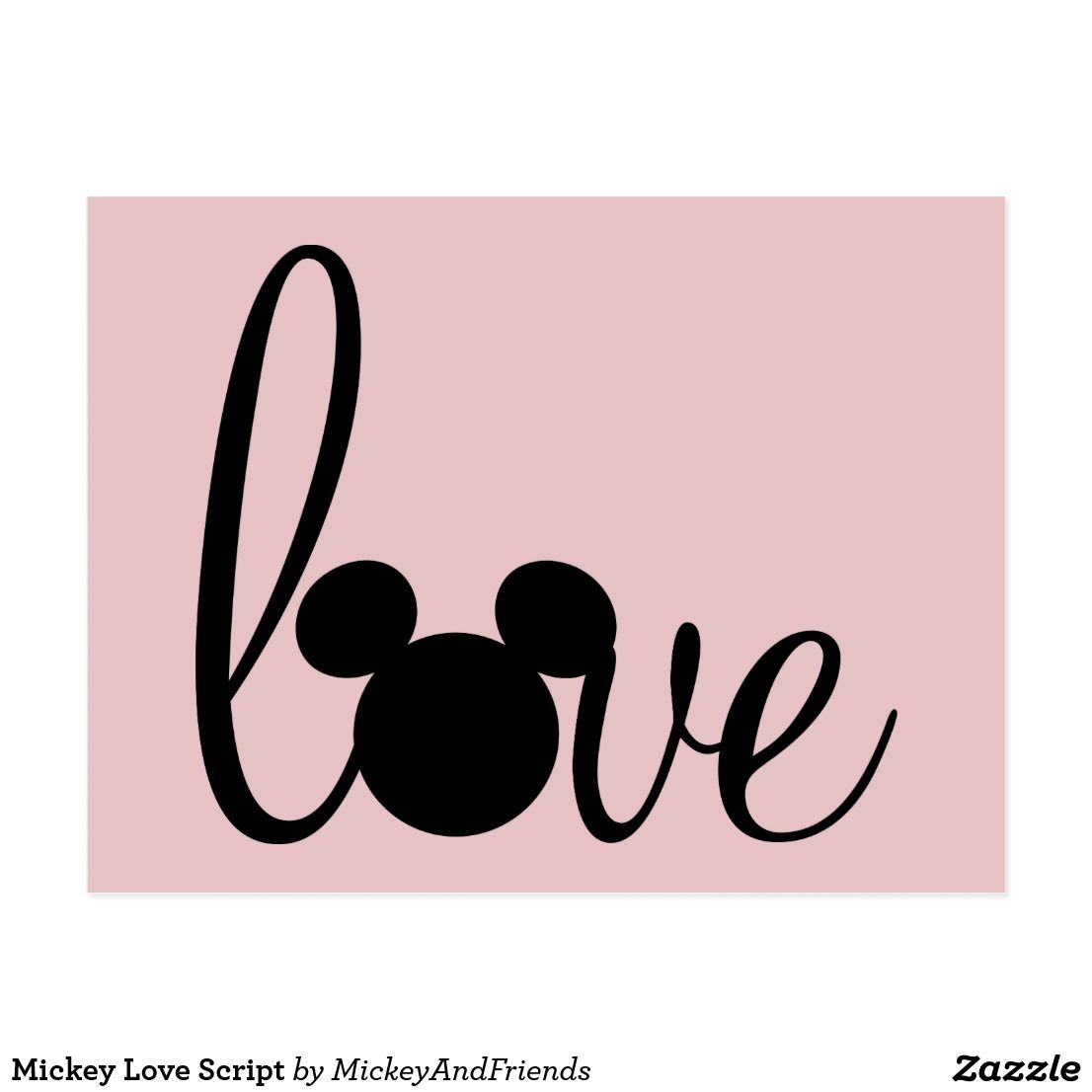 Photo of Mickey Love Script Postcard