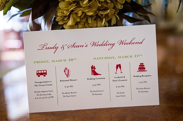 destination wedding weekend itinerary Destination Wedding on Kiawah
