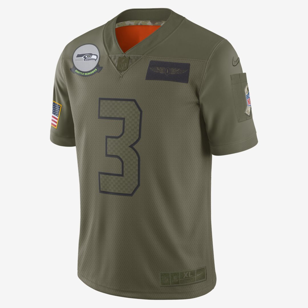 NFL Seattle Seahawks Limited Salute To Service (Russell Wilson) Men's Football Jersey #salutetoservice