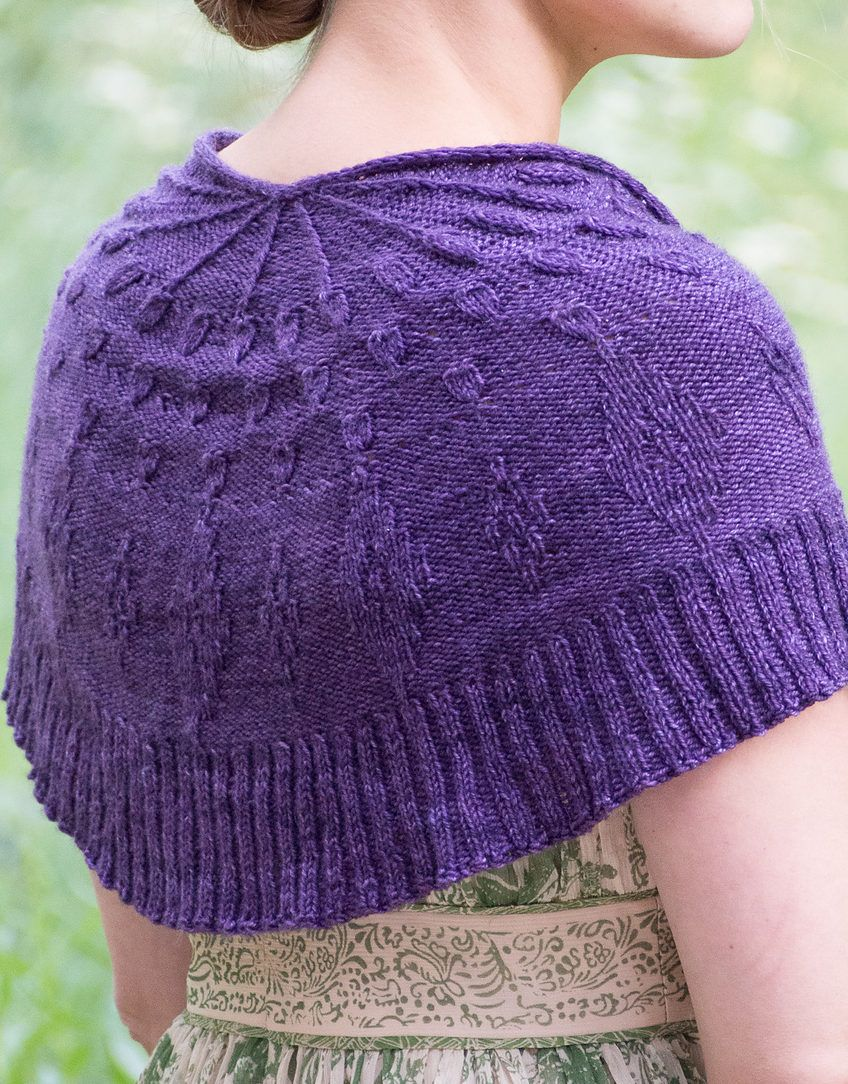 Free Knitting Pattern for One Skein Shawl Tactile Stimuli - This ...