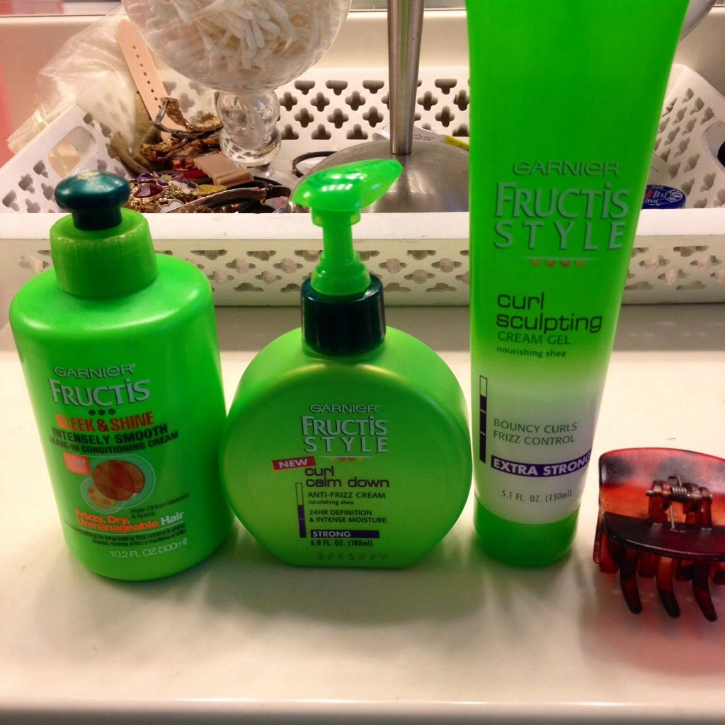 curly hair blog post step 3 garner fructis curl products