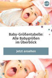 #alle #Babygrößen #BabyGrößentabelle #Überblick Möchte man Babykleidung ve…
