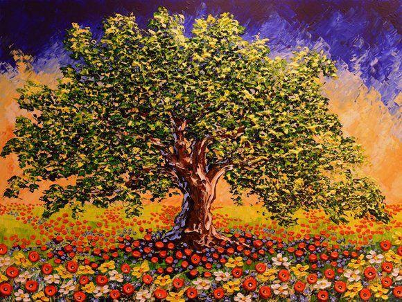 Isabelle Dupuy - Flourishing Tree of Splendor - MEDIUM: Original Acrylic on Canvas SIZE: 30 x 40