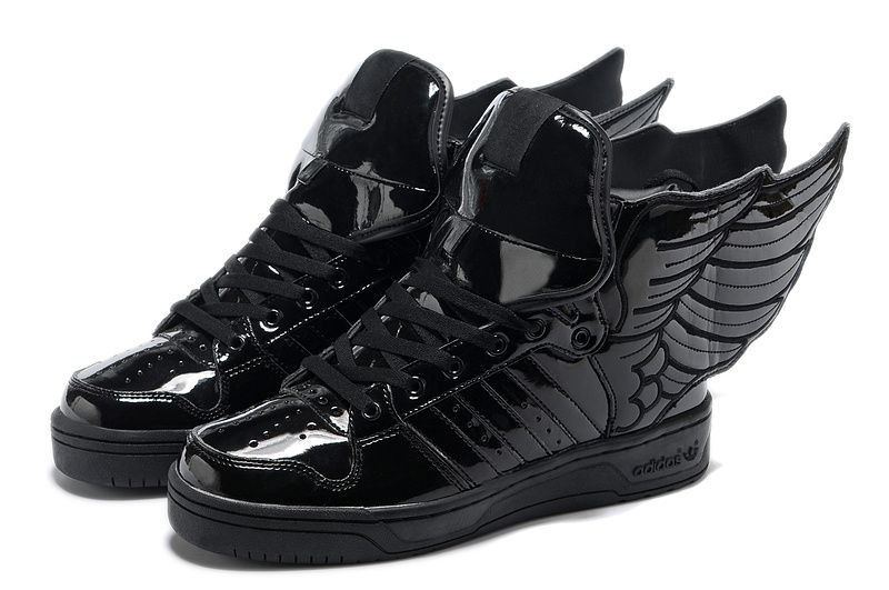 Buy New Adidas X Jeremy Scott Wings Shoes All Black Basketball Shoes Shop