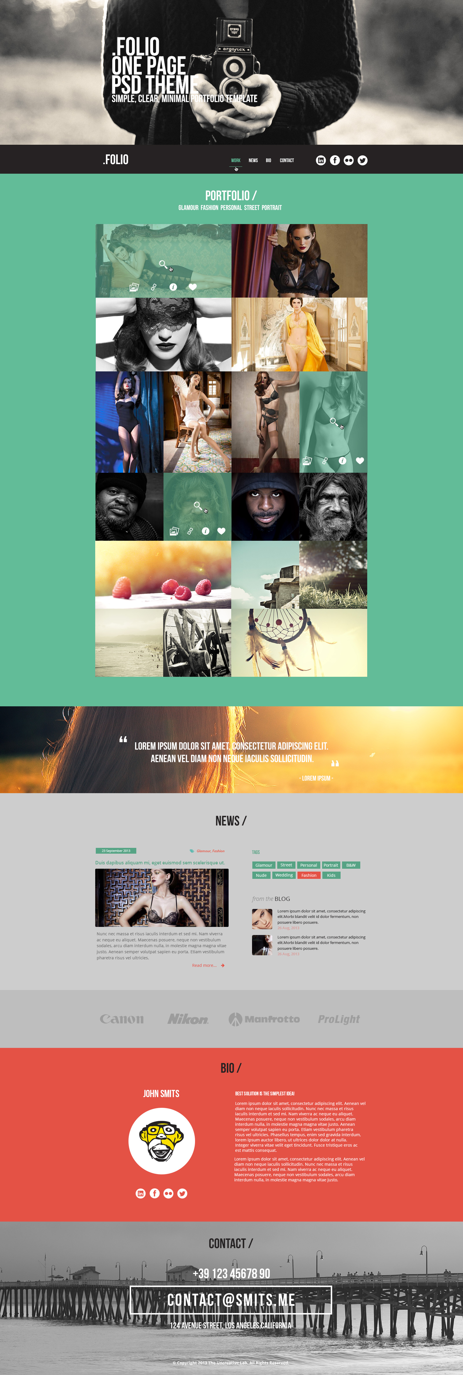 plantilla-psd-una-pagina3 | Plantillas web | Pinterest ...
