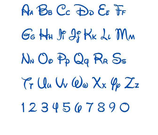 Walt Disney Machine Embroidery Font | Disney, Kid and Fonts