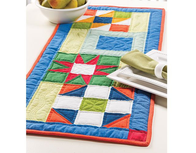 Modern Twist Table Runner Featured In Learn To Hand Quilt With Pepper Cory.  Watch A