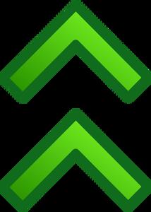 Publicdomainvectors Org Double Arrow Pointing Up Vector Image Arrow Pointing Up Arrow Point Vector Images