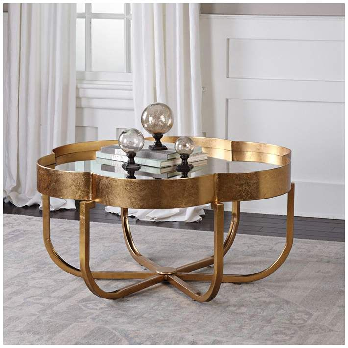 clear mirror coffee table