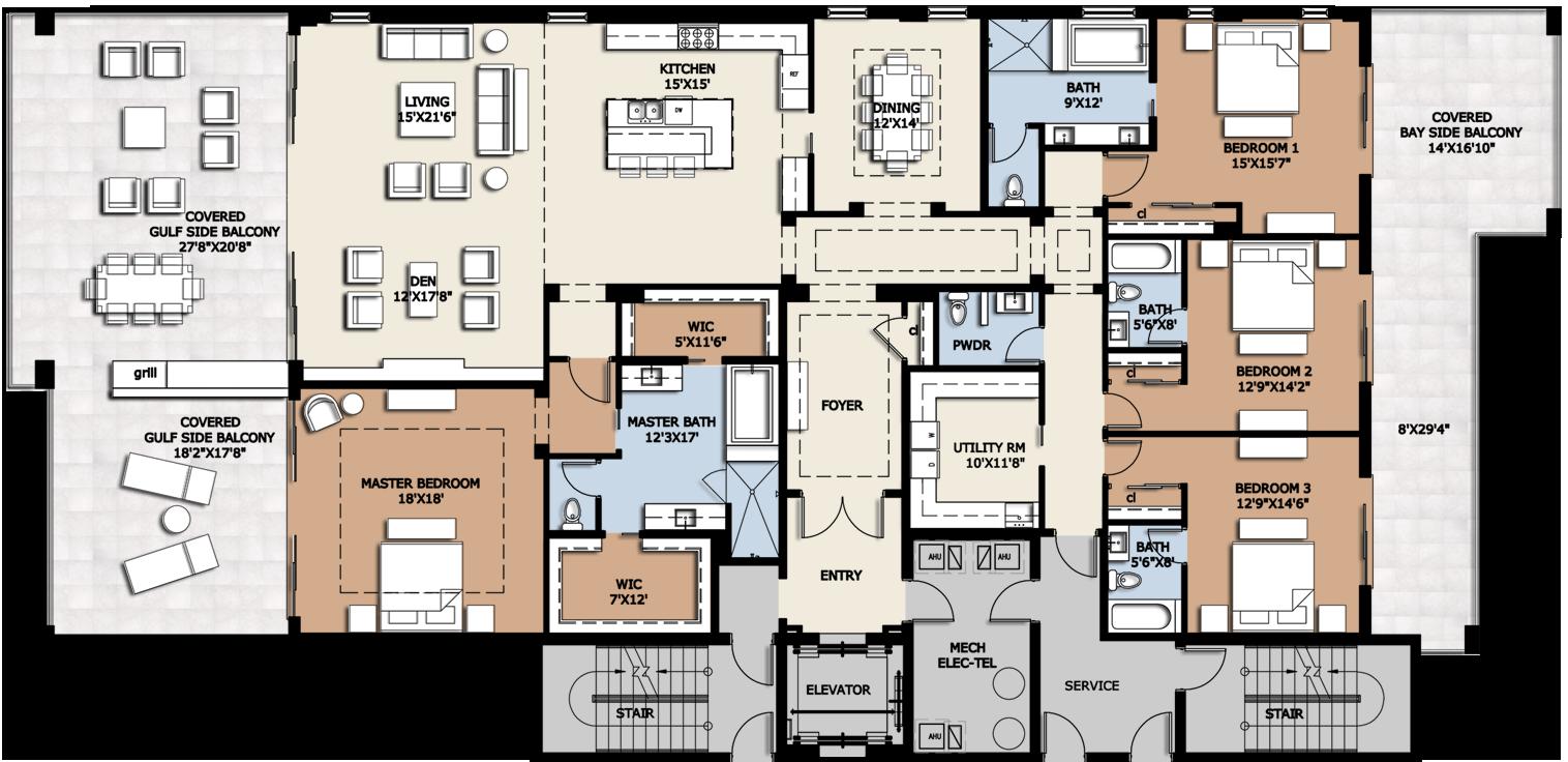 Floor Plan A Png 1516 736 Condo Floor Plans Condominium Floor Plan Condo Floor Plans