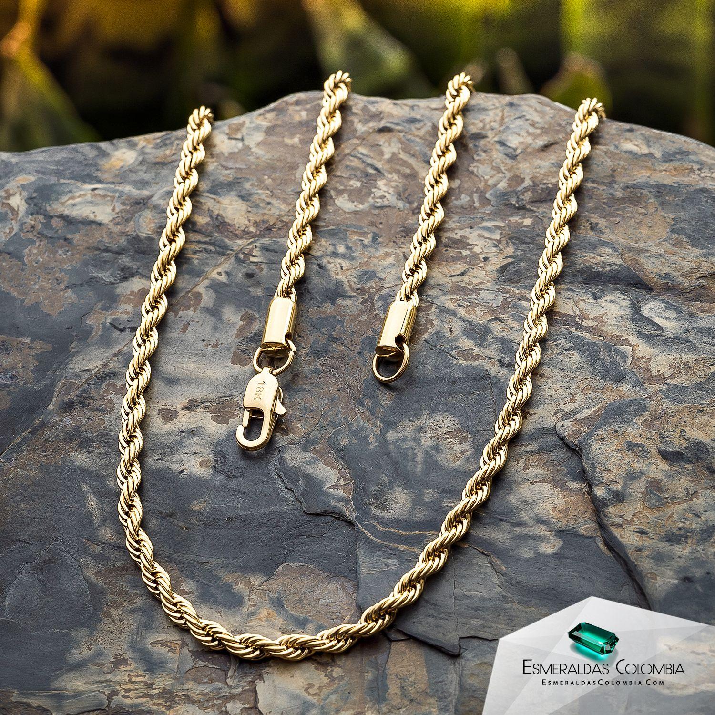 Cadena Tejido Egipcio En Oro Laminado De 18k Joyería De Moda Joyeria Cadenas