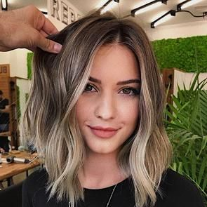 Short Wave Bright White Blond Beautiful Wigs In 2020 Short Hair Balayage Medium Hair Styles Hair Highlights