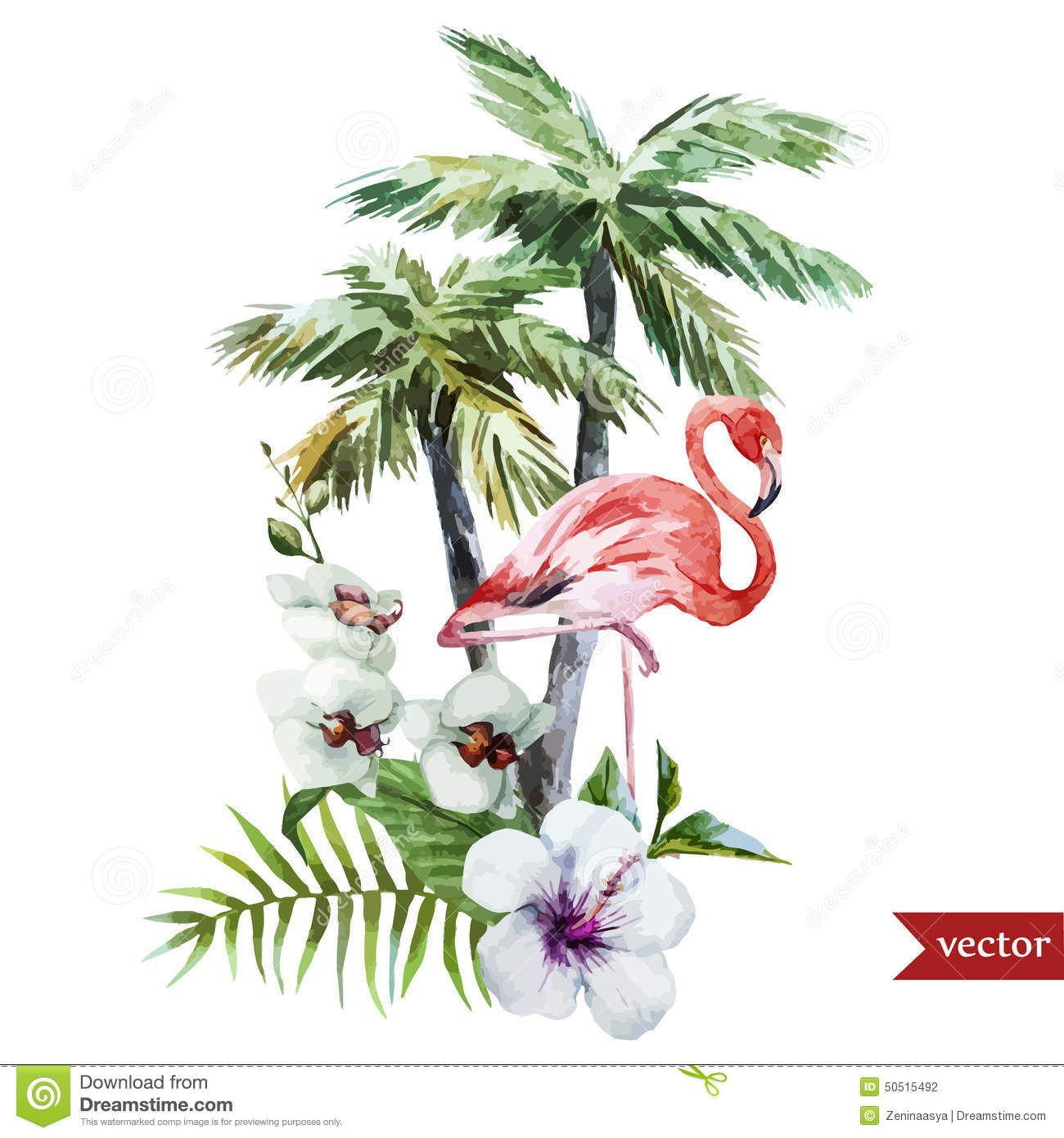 Tropical Flower Tattoo