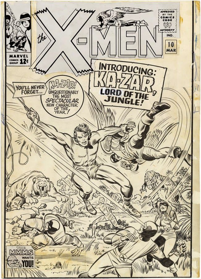 Cap'n's Comics: X-Men #10 Cover by Jack Kirby