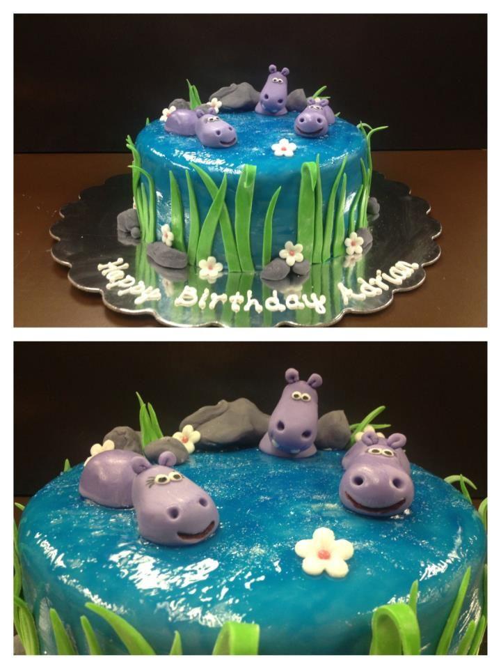Hippo Cake Kuchen Mit Fondant Kinder Kuchen Cupcake Kuchen