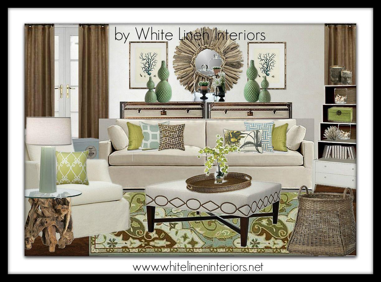 Family Room Interior Design Board Color Palette Decor Idea Board By White  Linen Interiors