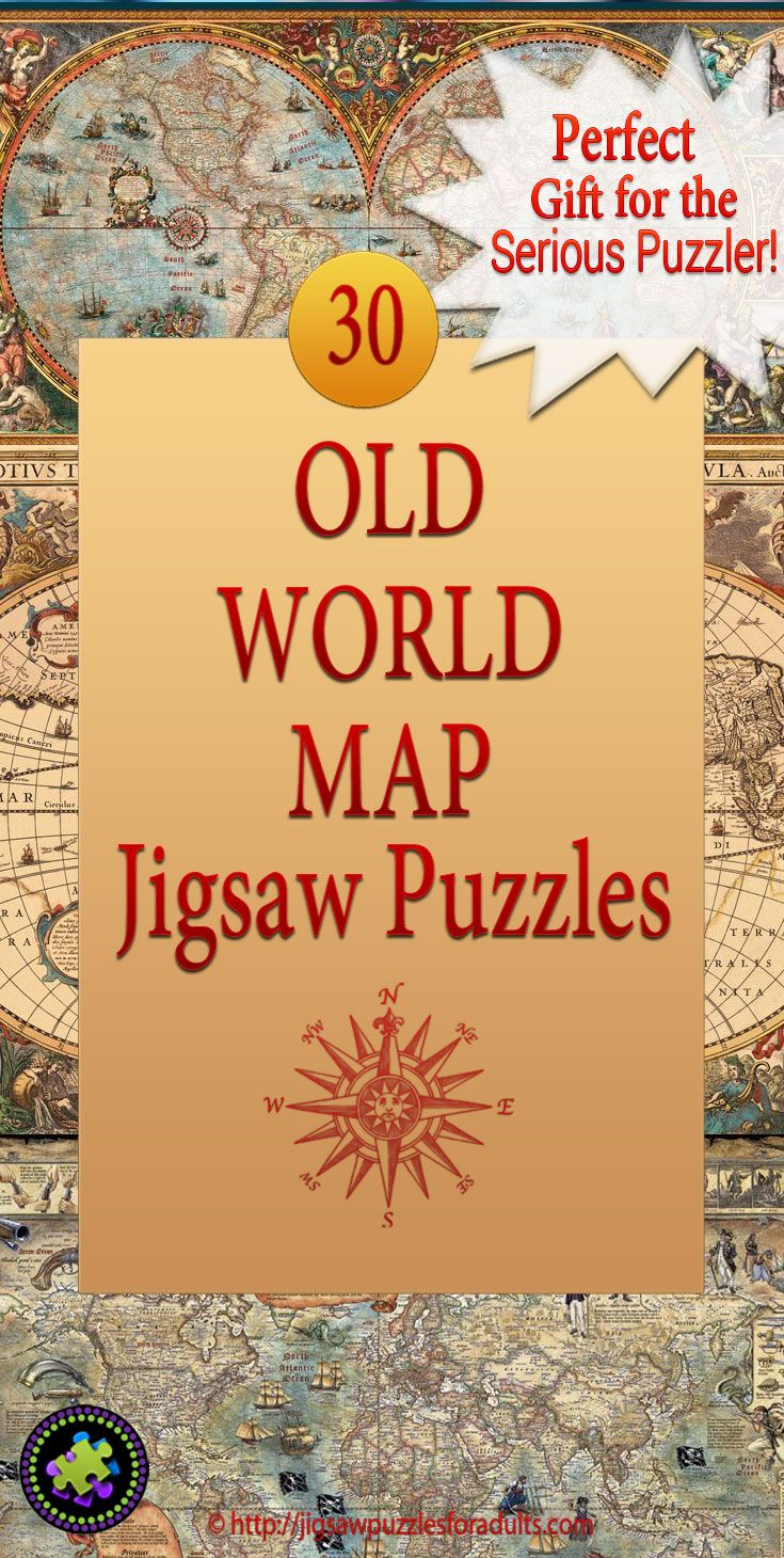 Old world map jigsaw puzzle gifts pinterest if you love map puzzles youll love this collection of old world map jigsaw puzzles antique looking old world maps are so cool and if youre after a bit of gumiabroncs Choice Image
