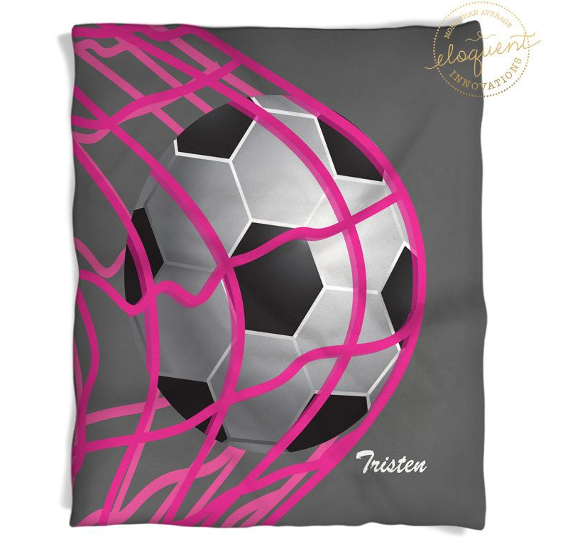 Soccer Throw Girls Sports Blanket Grey Pink Soccer Throws Amazing Soccer Blankets And Throws