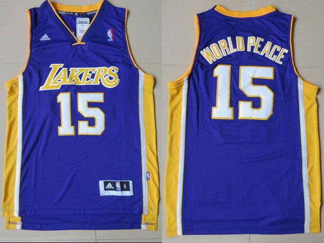 81dba32c4 ... los angeles lakers · metta world peace purple jersey artest