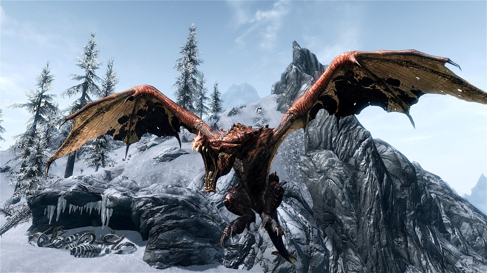 Skyrim Elder Dragon Wallpaper