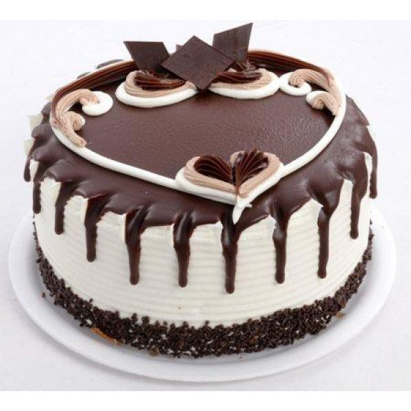 Choco Vanilla Cake end thisDual Vanilla Chocolate Cake to your