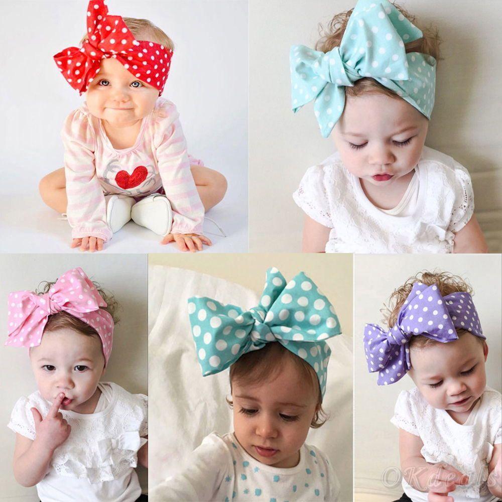Baby Toddler Kids Girl Bow Hairband Turban Knot Cotton Cute Headband HeadwearPDH