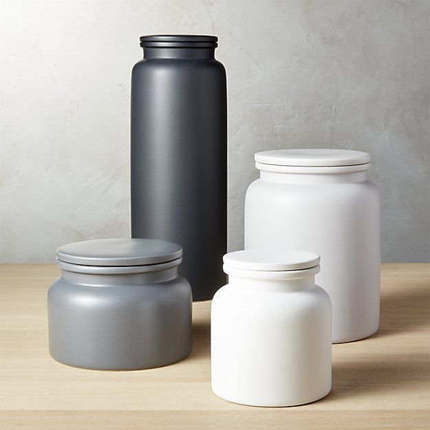 Prep Stoneware Kitchen Canisters | Kitchen canisters ...