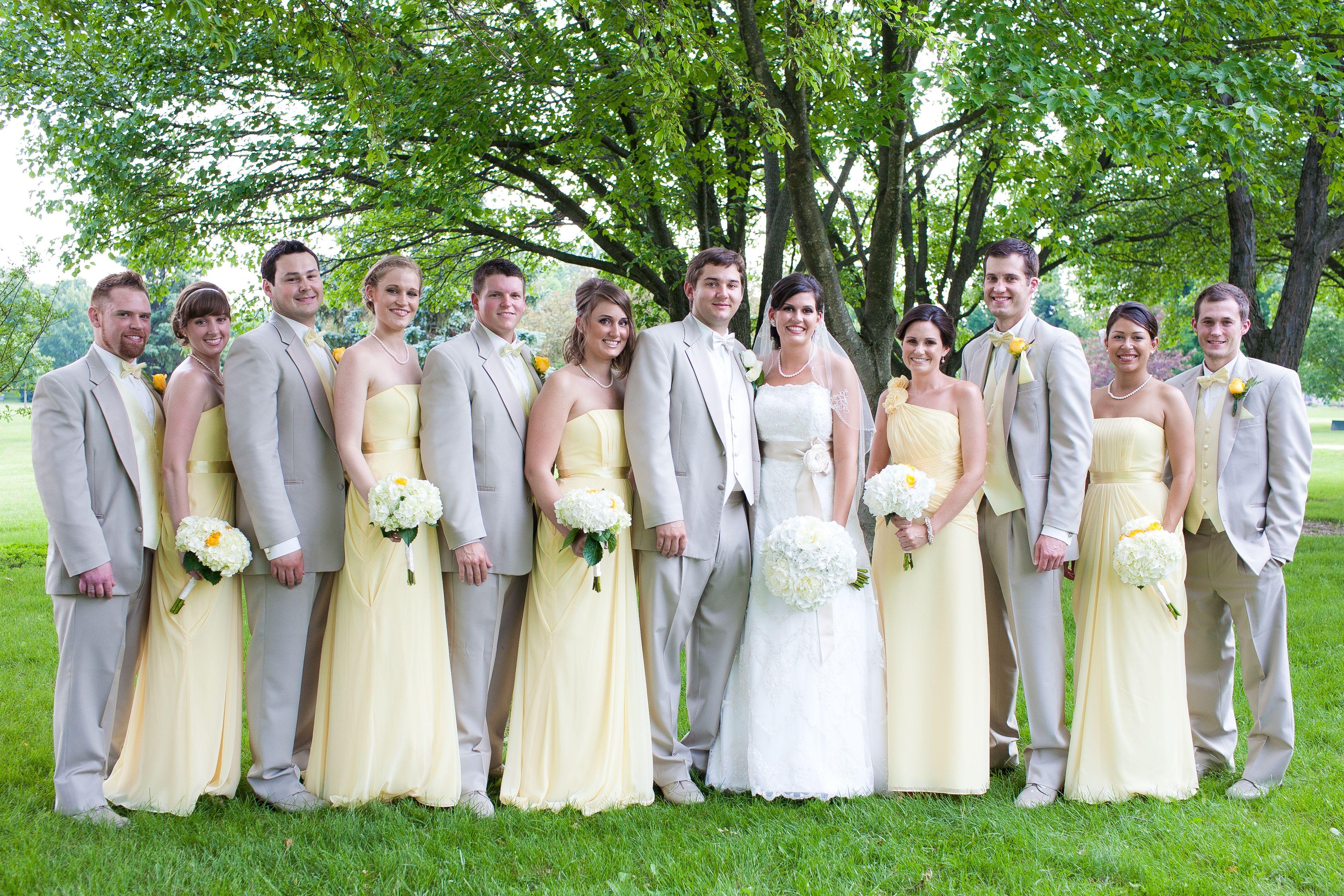 Wedding Party Yellow Tan